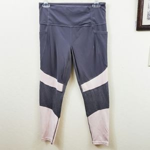 Athleta High Waisted Neutral Gray Pink Leggings